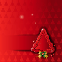 Christmas tree wax red background