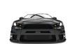 Black Race Car Closeup