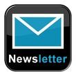 Glossy Button - Newsletter schwarz blau