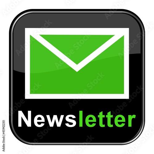 Glossy Button - Newsletter schwarz grün