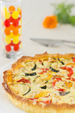 Home made vegetable quiche