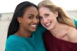 Portrait of Two Multicultural Girls Smiling