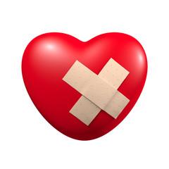 Herz mit Pflaster