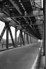 Iron bridge B&W image