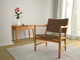 Raum mit Stuhl