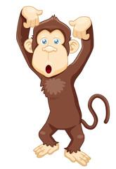 illustration of Monkey cartoon vector