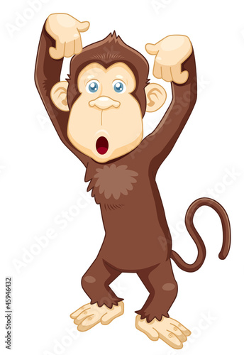 illustration of Monkey cartoon vector