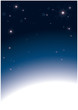 Abstract background stardust with white footer