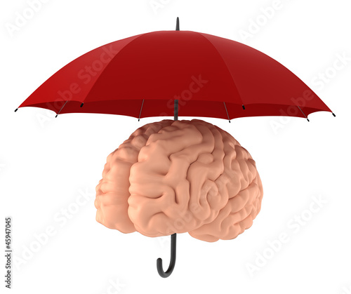 Brain - Sanity - Mind Protection. Include Clipping Path.