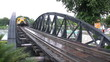 Train Crossing Bridge On The River Kwai-Tilt Up