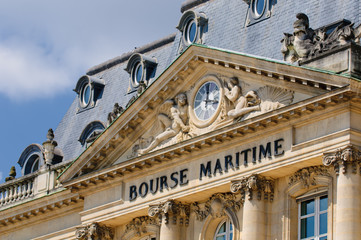 Bourse Maritime building, Bordeaux, France.