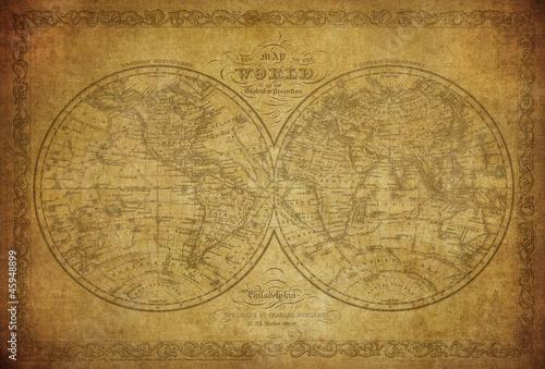 vintage-mapa-swiata-1856