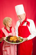 Chef and Homemaker with Holiday Dinner