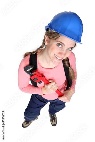 Female DIY enthusiast