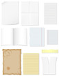 set blank sheets of paper for design vector illustration