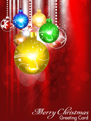 abstract christmas background with christmasball