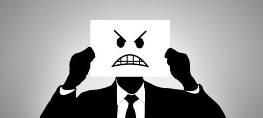 Geschäftsmann Zorn