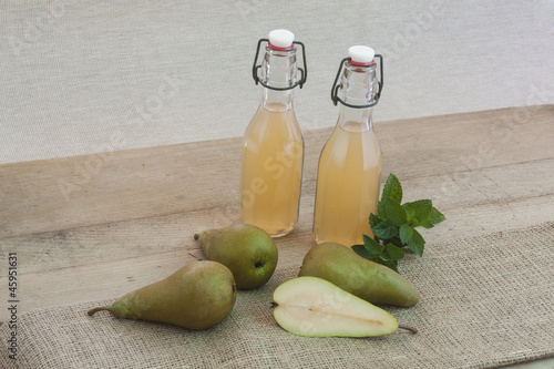 Rustic style of pear juice