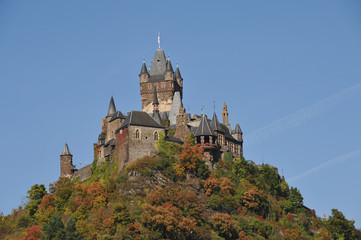 Reichsburg Cochem, Bergkegel, Romantik, Herbst, Rheinland-Pfalz
