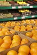 Fresh oranges in the supermarket