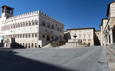 Piazza IV Novembre,Perugia, Italia