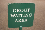 group waiting sign