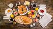 Leinwanddruck Bild - Frühstück