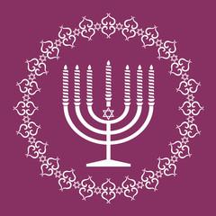 Jewish menorah holiday background , vector illustration