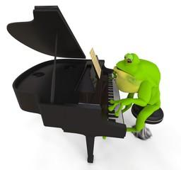Rana tocando Piano