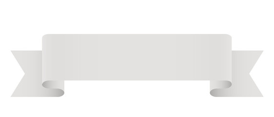 Elegante Banderole, Banner, Design Element, Weiß, Hellgrau