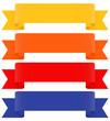 Banderole, Banner, Design Element, Banderolen, Sammlung, Set 3