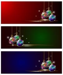 christmas globe banner
