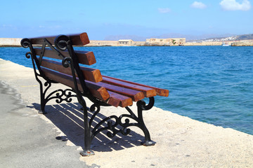 Bench at Old Harbor