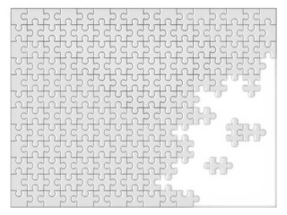 blank unfinished jigsaw