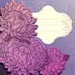 vector purple background with chrysanthemums
