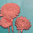 vector vintage background with chrysanthemums