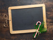 Chalkboard with festive candy cane