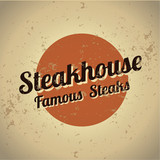 Steakhouse metal vintage sign
