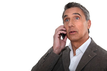 man talking on his cell phone