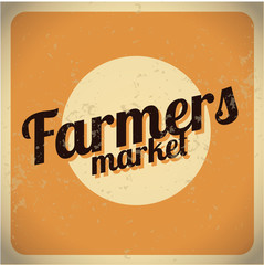 Farmers Market vintage metal sign. Eps 10.