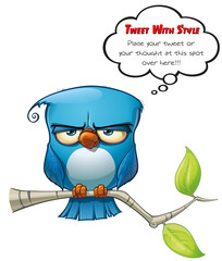 Tweeter Blue Bird Flat