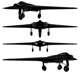 Military Airplanes With Delta Wings Vector 06