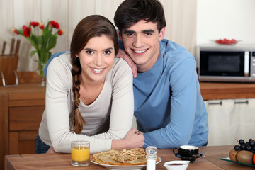 Young couple in a kitchen