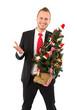 Mann im Weihnachtsstress