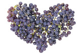 Vine grapes heart concept