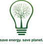 Light bulb with tree inside save energy