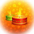 vector illustration of holy diya for Diwali festival