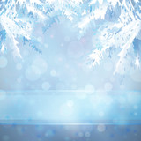 Fototapety Christmas background with Christmas tree branches