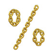 3d Gold Chain Alphabet Font - Percent Sign