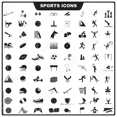vector illustration of set of sport icon